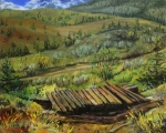 Plener Okanagan 5 (Britska Kolumbie) - olejomalba, obraz