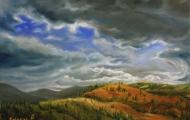 Plener Okanagan 6 (Britska Kolumbie) - olejomalba, obraz