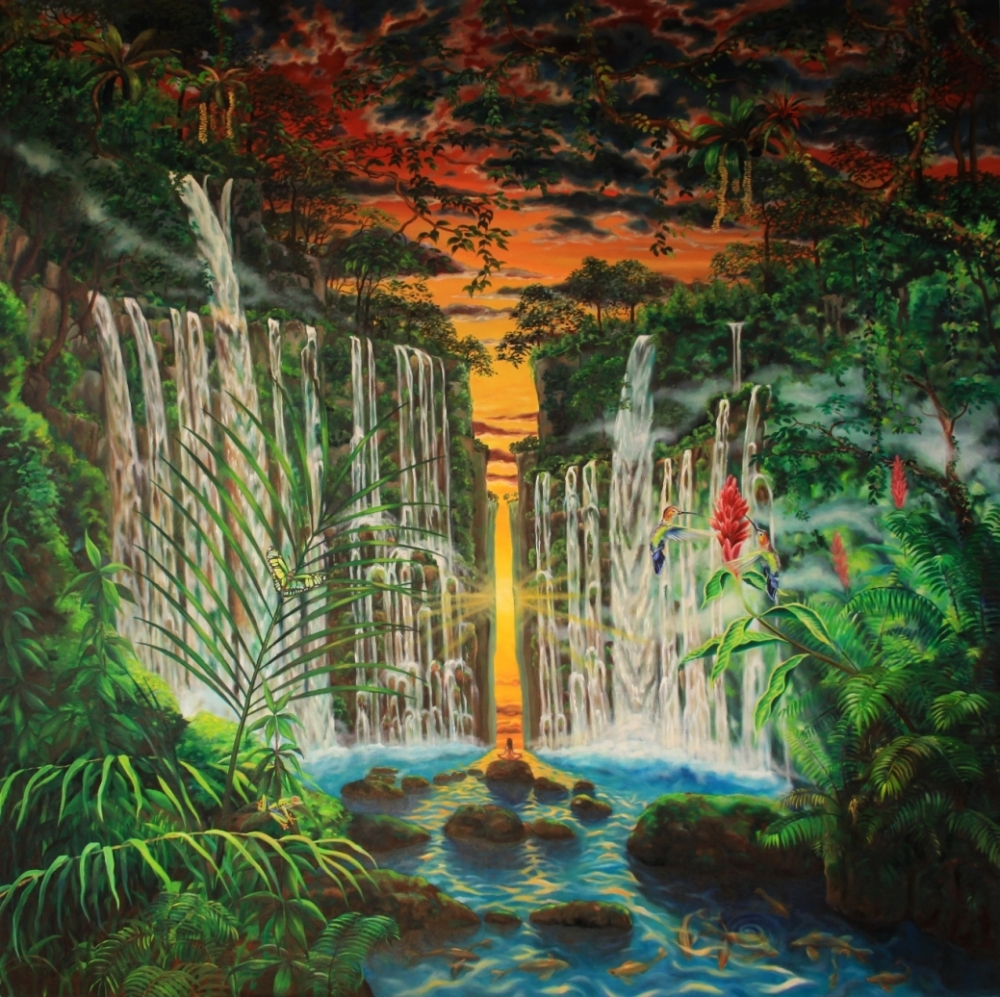 Oil painting - Paradise