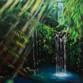 Jungle peacefulness - oil painting