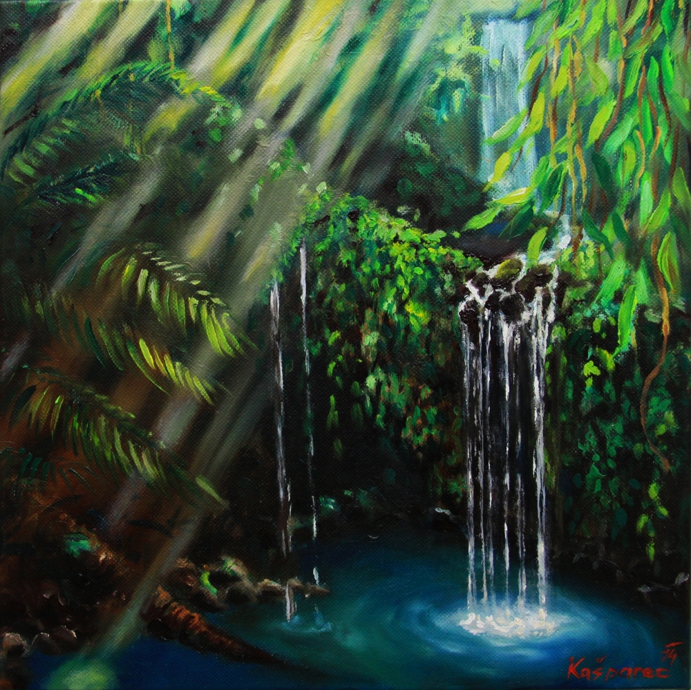 Oil painting - Jungle peacefulness