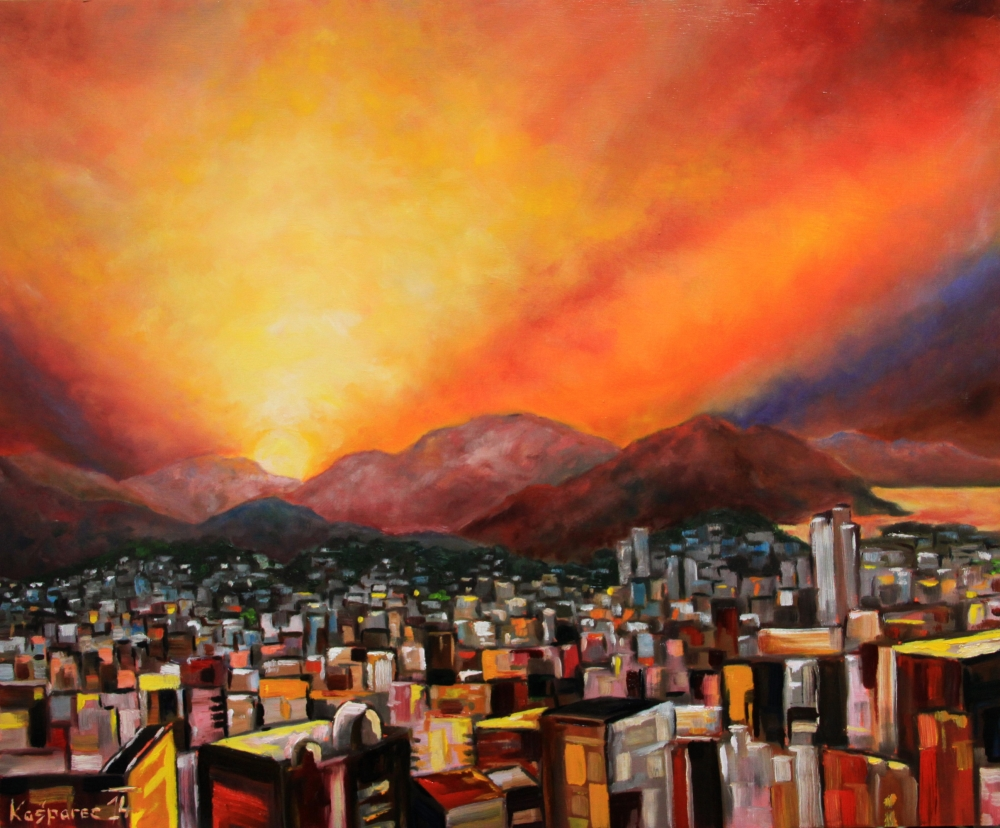 Oil painting - Oyasumi Fukuoka