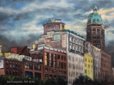 560 Beatty Street - oil painting
