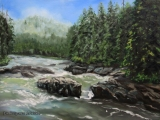 On the way to Tofino II - oil painting