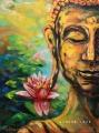 Lotusový Buddha - olejomalba, obraz