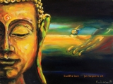 Buddha of equanimity - oil painting