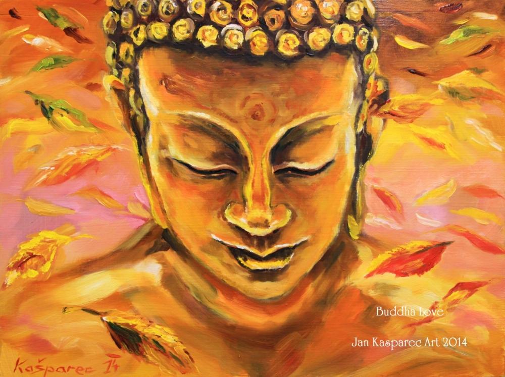 Obraz - Buddha mezi padajícím listím