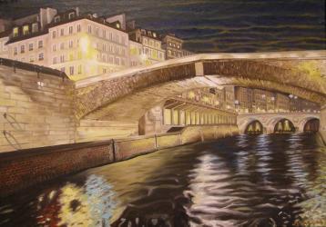Seine a Paris - oil painting