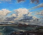 From Waterfront to North Vancouver - oil painting