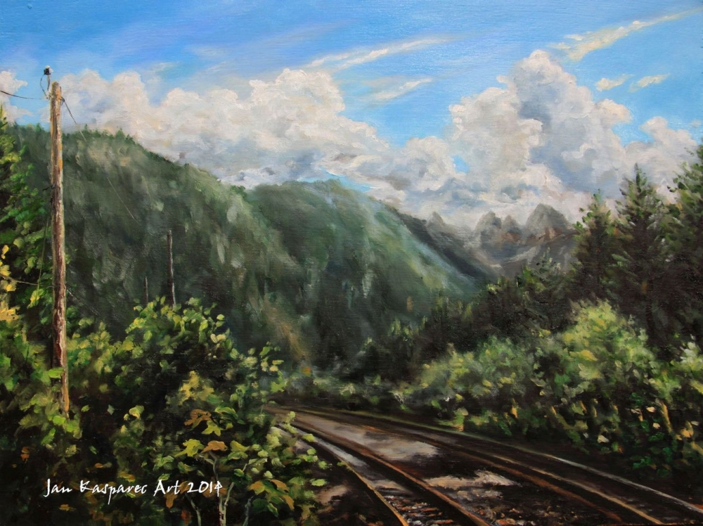Oil painting - Brakendale railways