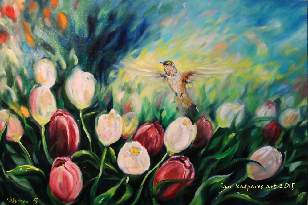 Oil painting - Moment of Liberation