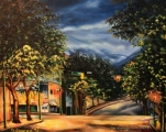 Main and Powel, Gastown, Vancouver BC - oil painting