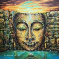 Buddha Flow - oil painting