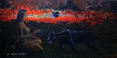 Královna džungle - olejomalba, obraz