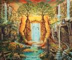 Gaia znovuzrozena - olejomalba, obraz
