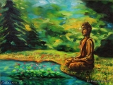 Lotus Meditation - oil painting