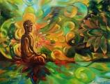 Energie lotusu - olejomalba, obraz