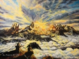 Himalayan Buddha Sunset - olejomalba