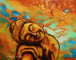 Dreaming Buddha - oil painting