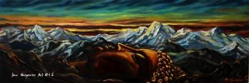 Sleeping Buddha - olejomalba, obraz
