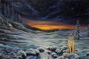 Winter silence - oil painting