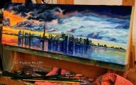 Toronto skyline - oil painting