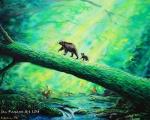 Kouzelná procházka - olejová malba
