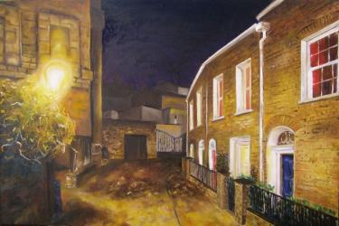 Street in Ranelagh - oil painting