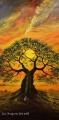 Sen při západu slunce - olejomalba, obraz