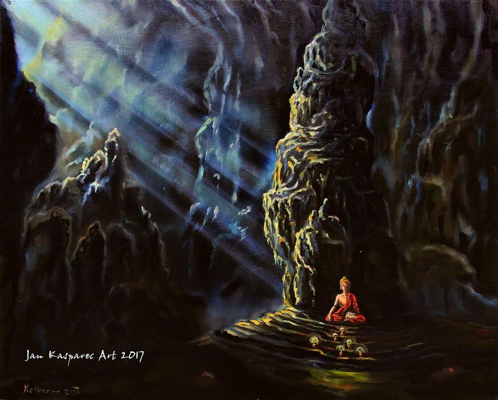 Obraz - Buddha v jeskyni