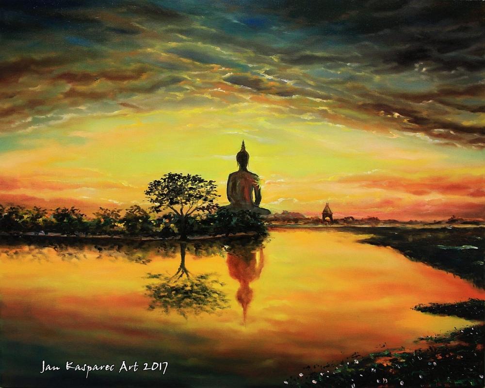 Oil painting - Ang Thong Buddha