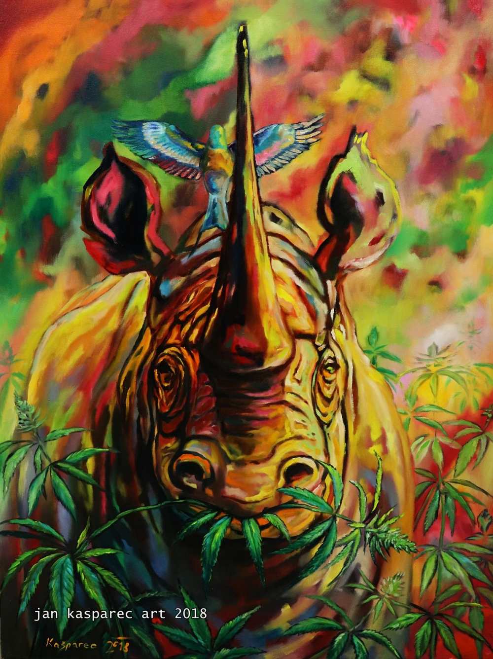Obraz - Rhino Freedom