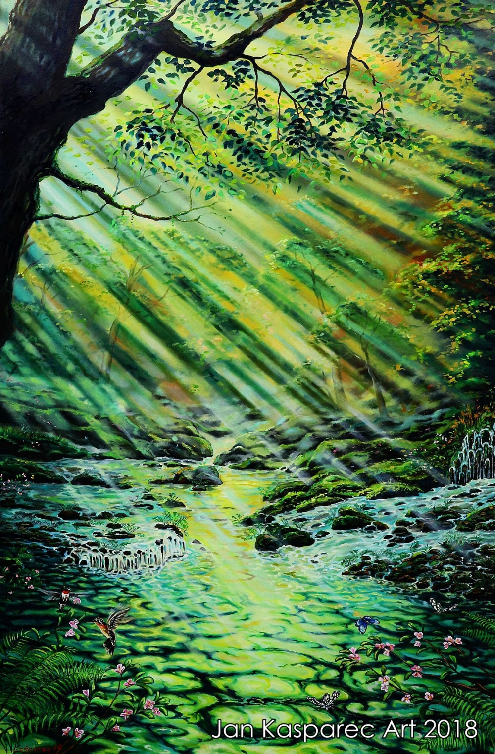 Oil painting - Forest River