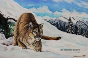 Cougar - oil painting