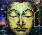 Mandala - olejová malba