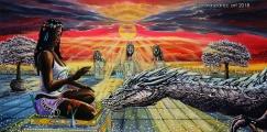 Dragon Tamer - olejomalba, obraz