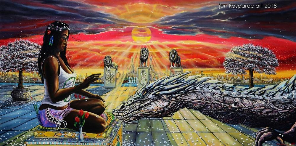 Oil painting - Dragon Tamer