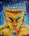 Space Buddha - oil painting