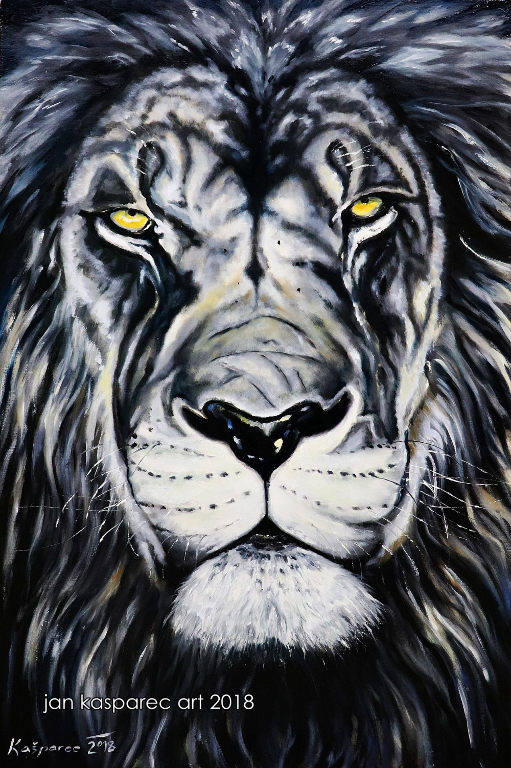 Oil painting - Lion 1