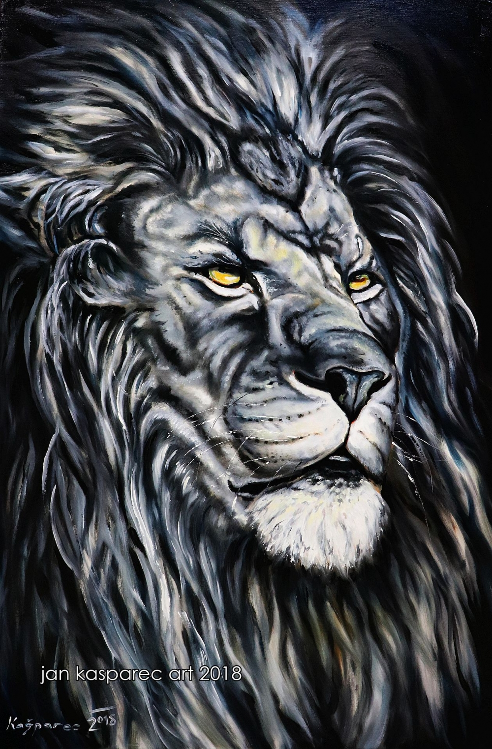 Oil painting - Lion 2