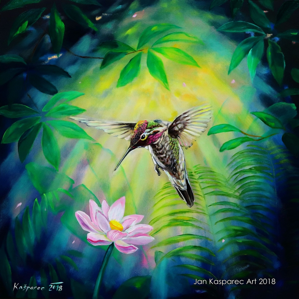 Oil painting - Humming bird ​2​
