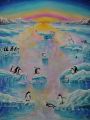 Joy Penguins - paintings