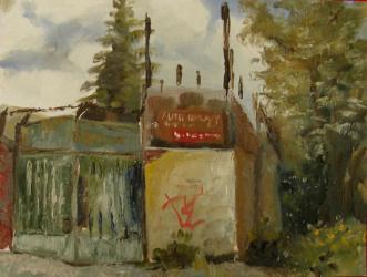 Náhradní díly, Srbova - olejomalba, obraz