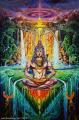 Shiva Phoenix - olejová malba