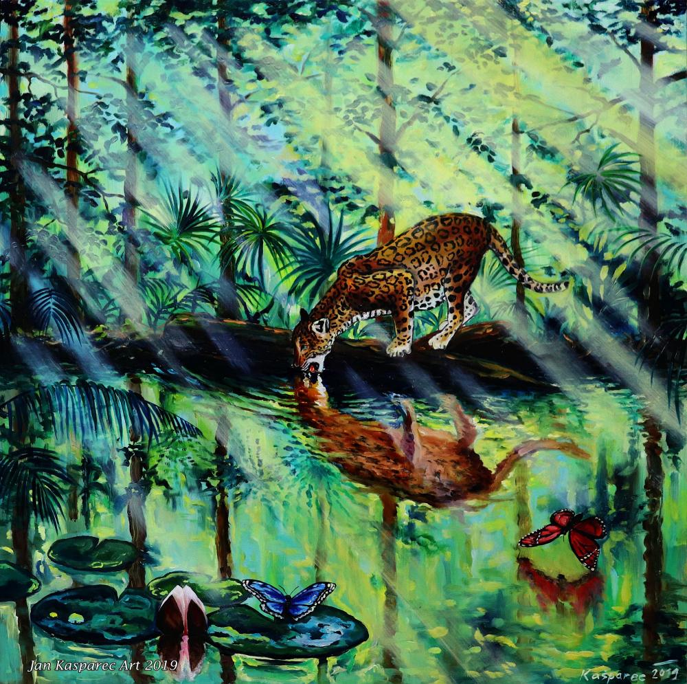 Oil painting - Jungle Harmony
