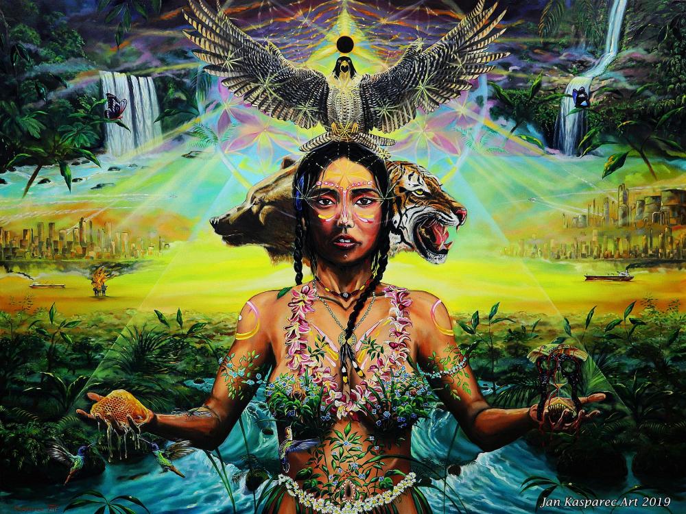 Oil painting - Gaia - Sacrifice