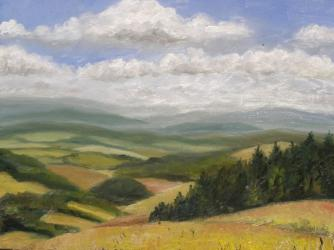 Horizons in Ceske Petrovice 2 - oil painting