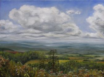 Horizons in Ceske Petrovice 1 - oil painting