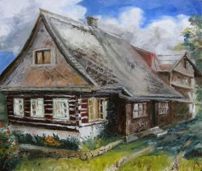 Cottage 1 - oil painting