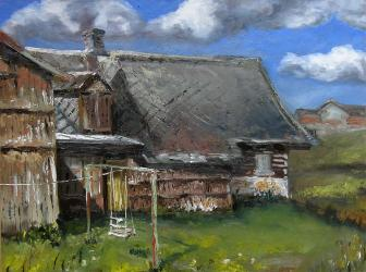 Cottage 2 - oil painting